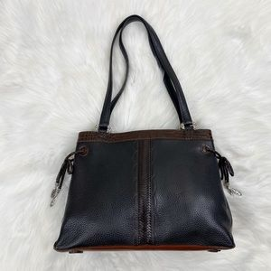 Brighton Black Leather Shoulder Bag Purse